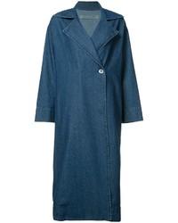 Abrigo vaquero azul de Raquel Allegra