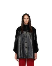 Abrigo vaquero negro de Balenciaga