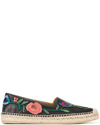 Alpargatas con print de flores Negras de Gucci