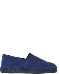 Alpargatas de ante azul marino de Tom Ford