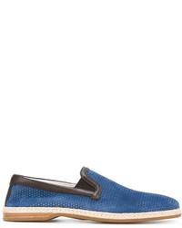 Alpargatas de ante azules de Dolce & Gabbana