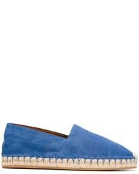 Alpargatas de ante azules de Valentino