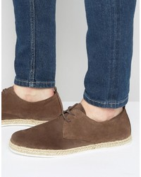 Alpargatas de ante marrónes de Zign Shoes