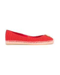 Alpargatas de crochet rojas de Gucci