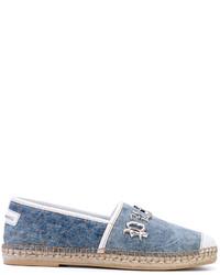 Alpargatas de cuero azules de Philipp Plein
