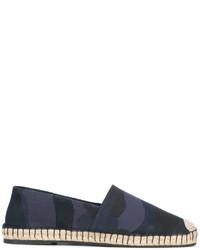 Alpargatas de cuero de camuflaje azul marino de Valentino Garavani