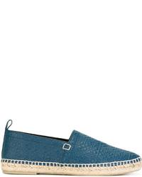 Alpargatas de cuero en verde azulado de Loewe