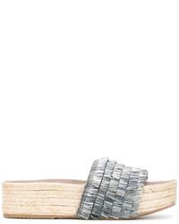 Alpargatas de cuero grises de Paloma Barceló