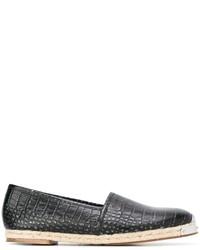 Alpargatas de cuero negras de Giuseppe Zanotti Design