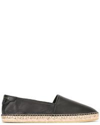 Alpargatas de Cuero Negras de Givenchy