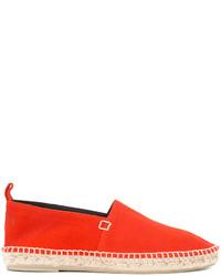 Alpargatas de cuero rojas de Loewe