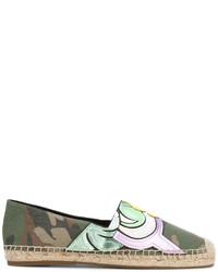 Alpargatas de cuero verde oliva de Marc Jacobs