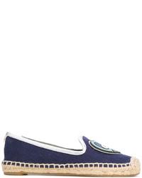 Alpargatas de lona azul marino de Tory Burch