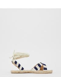 Alpargatas de lona de rayas horizontales azul marino de ASOS DESIGN