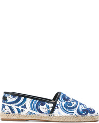 Alpargatas de lona estampadas azules de Dolce & Gabbana