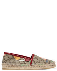 Alpargatas de Lona Estampadas Marrón Claro de Gucci