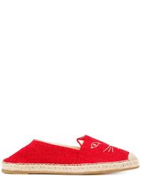 Alpargatas de lona rojas de Charlotte Olympia