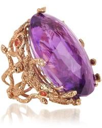 Anillo en violeta