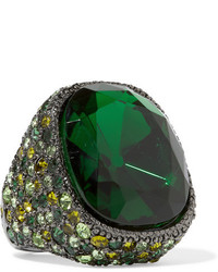 Anillo verde de Kenneth Jay Lane