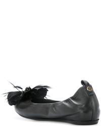 Bailarinas bordadas negras de Lanvin