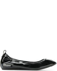 Bailarinas de cuero negras de Lanvin