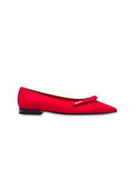Bailarinas de cuero rojas de Prada