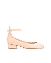 Bailarinas de cuero rosadas de Stuart Weitzman