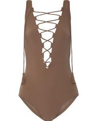 Bañador marrón de Karla Colletto