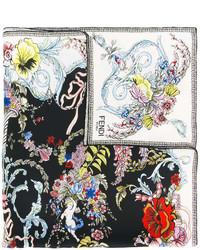 Bandana con print de flores negra