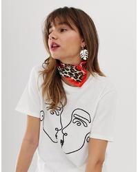 Bandana de seda estampada en multicolor de ASOS DESIGN