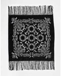Bandana estampada en negro y blanco de Asos
