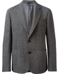 Blazer acolchado gris de Giorgio Armani