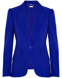 Blazer azul de Alexander McQueen