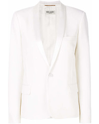 Blazer blanco de Saint Laurent