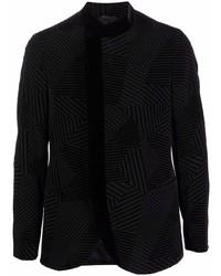 Blazer con estampado geométrico negro de Giorgio Armani