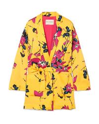 Blazer con print de flores amarillo de Etro