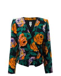 Blazer con print de flores en multicolor de Emanuel Ungaro Vintage