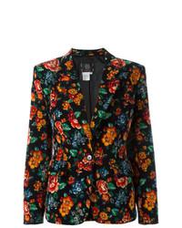 Blazer con print de flores en multicolor de Kenzo Vintage