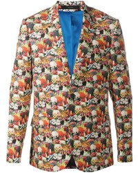 Blazer con print de flores en multicolor de Paul Smith