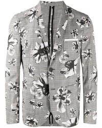 Blazer con print de flores gris de Neil Barrett