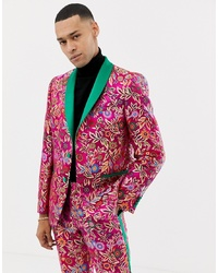 Blazer con print de flores rosa de ASOS Edition