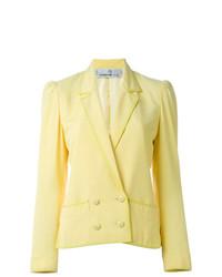 Blazer Cruzado Amarillo de Jean Louis Scherrer Vintage
