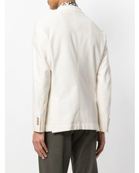 Blazer cruzado blanco de The Gigi