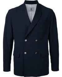 Blazer cruzado de algodón azul marino de Kent & Curwen