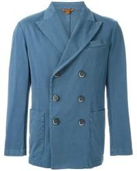 Blazer cruzado de algodón azul de Barena