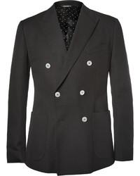 Blazer cruzado de algodón negro de Dolce & Gabbana