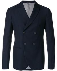 Blazer cruzado de lana azul marino de Giorgio Armani