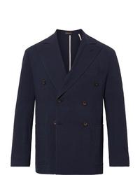 Blazer cruzado de lana azul marino de Rubinacci