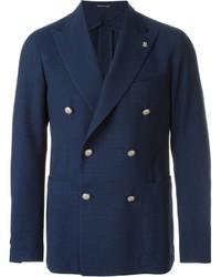 Blazer cruzado de lana azul marino de Tagliatore
