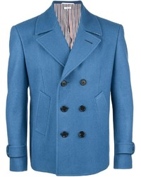 Blazer cruzado de lana azul